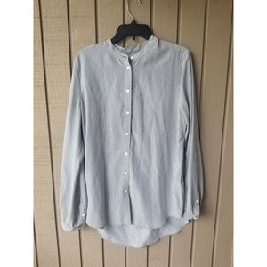Equipment Femme silk stripped button down